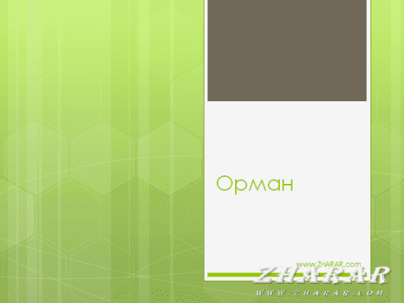 Қазақша презентация (слайд): Орман