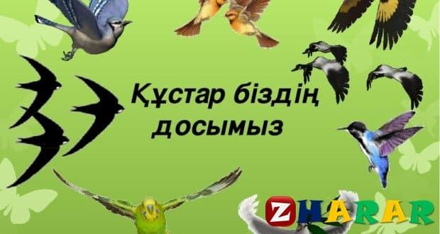 Қазақ тілінен сабақ жоспары: Құстар- біздің досымыз  №7 (3 сынып, I тоқсан, 1 бөлім)