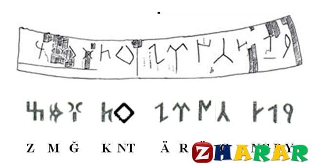 Қазақ тілінен сабақ жоспары: Көне түркі жазуы (7 сынып, I тоқсан )