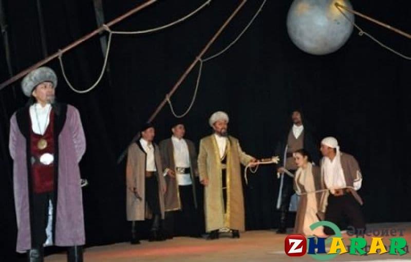 Қазақ тілінен сабақ жоспары: Қазақтың театр өнері (8 сынып, IV тоқсан )