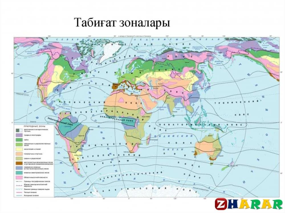 Географиядан сабақ жоспары: Табиғат зоналары мен биіктік белдеулерінің қалыптасуы (9 сынып, III тоқсан)